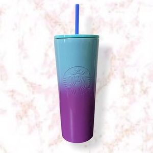 Starbucks Stainless Steel Purple Blue Tumbler Cup